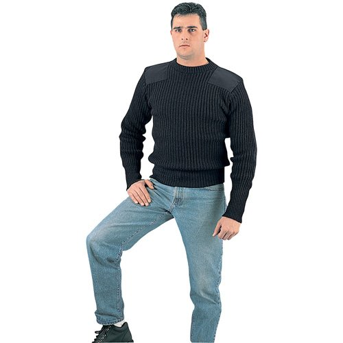 Mens Government Type Wool Commando Sweater