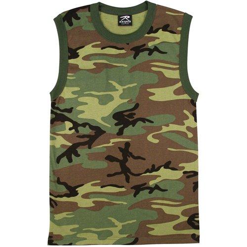 Mens Woodland Camo Muscle Shirt