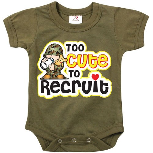 Infant Too Cute To Recruit One-Piece