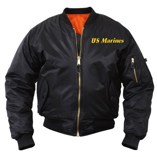 Mens Marine Emblem MA-1 Flight Jacket