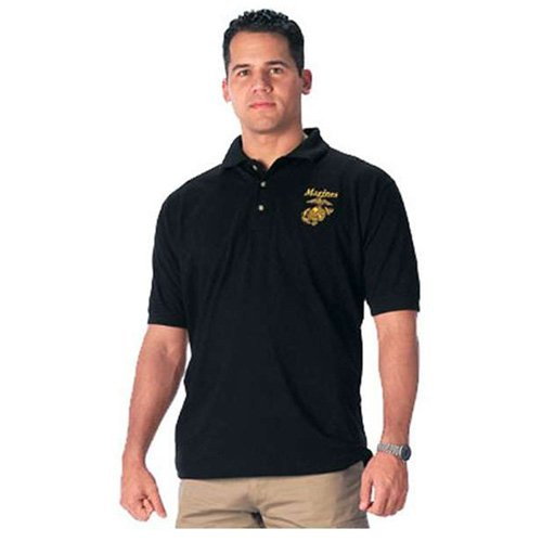 Mens Military Embroidered Army Polo T-Shirt