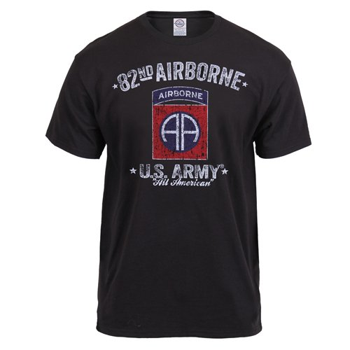 Black Ink 82nd Airborne Printed T-Shirt