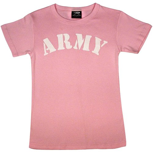 Womens Pink Army T-Shirt