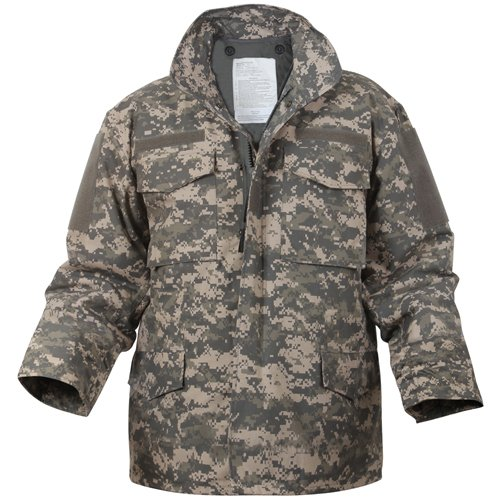 Mens Digital Camo M-65 Field Jacket