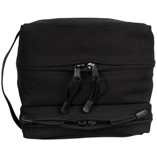 Canvas Dual Compartment Travel Kit