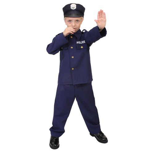 Ultra Force Kid's Police Costume - Navy Blue