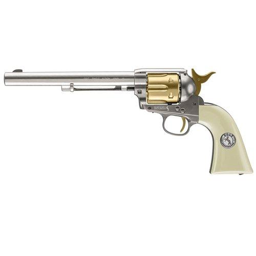 Colt Peacemaker Nickel & Gold Pellet Revolver