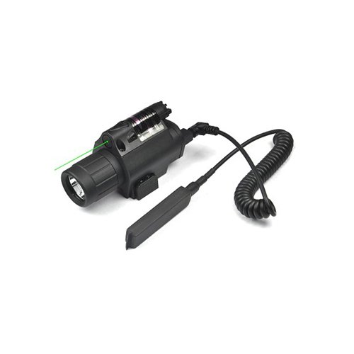 Areseye Tactical LED Flashlight Green Laser Sight