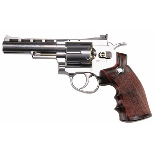 WG 6Mm 4 Inch CO2 Non Blowback Silver Airsoft Revolver