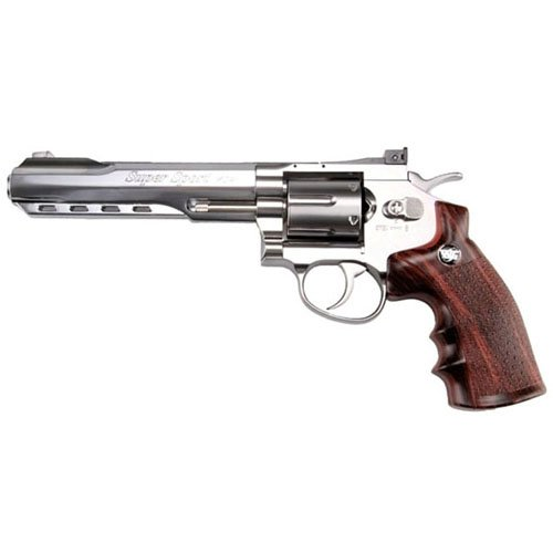 WG 6Mm 6 Inch CO2 Non Blowback Silver Airsoft Revolver