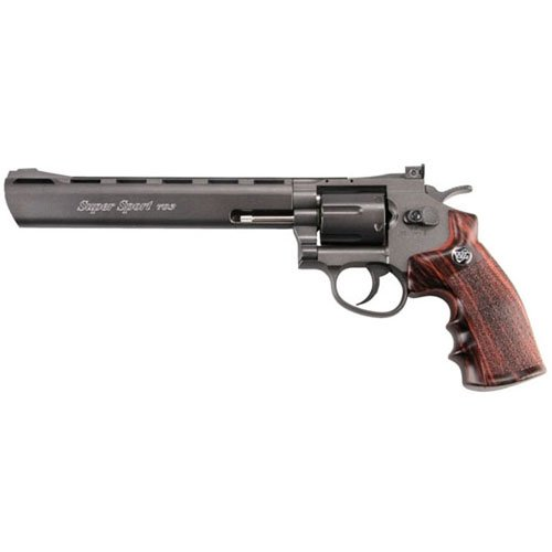 WG 6Mm 8 Inch CO2 Non Blowback Black Airsoft Revolver