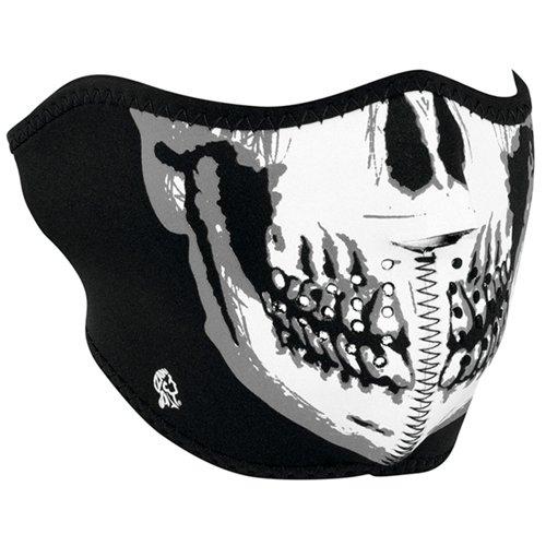 Zan Headgear Black Neoprene Glow In The Dark Half Face Mask