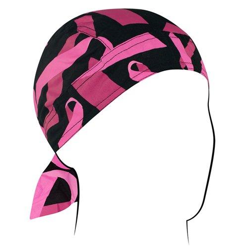 Breast Cancer Pink Ribbon White Bandanna