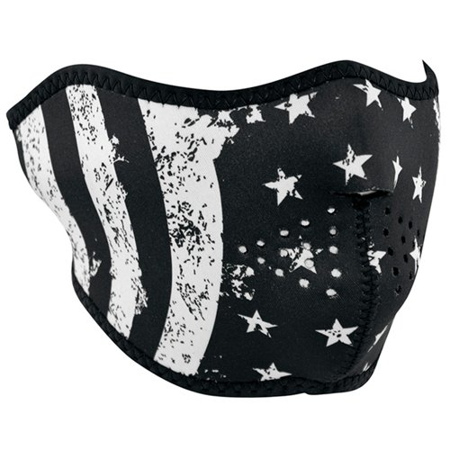 Neoprene Flag Half Mask - Black And White