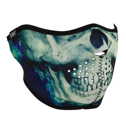 Neoprene Paint Skull Face Mask - Half