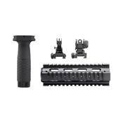 AR/M4 Carbine Quad Rail/ Combo Kit/ Flip Up Sights