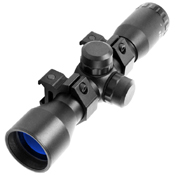 4x32 Compact Shock-Resistant Scope w/ Rings