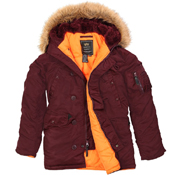 Alpha Mens Slim Fit N-3B Parka