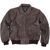 Alpha Mens Leather CWU 45P Flight Jacket