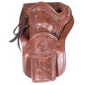 Western Justice Hand Tooled Leather Holster - 6 Inch