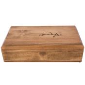 Western Justice John Wayne Signature 8 Inch Wide Pistol Wood Case