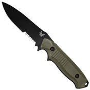 Benchmade Nimravus 4.5 Inch BK1 Combo Drop Point Fixed Blade Knife