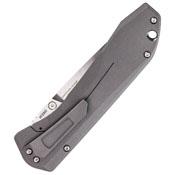 Benchmade Titanium Monolock Plain Edge Folding Blade Knife