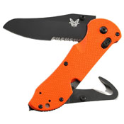 Benchmade Triage Black Folding Knife - Orange Handle