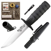 Survival Edge 4116 Steel Blade Fixed Knife w/ Kit