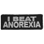 I Beat Anorexia 3.5x1.25 Inch Patch