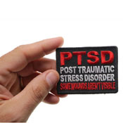 PTSD Patch for Vets Some Wounds are not Visible 3x2 Inch