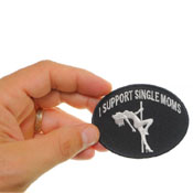 3x2.25 Inch I Support Single Moms Funny Biker Patch