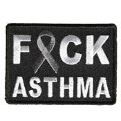 2.75x2 Inch FCK Asthma Gray Ribbon Patch