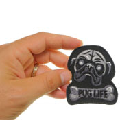 Pug Life Embroidered Patch