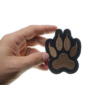2.9x3.5 Inch Canine Paw Print Iron On Patch