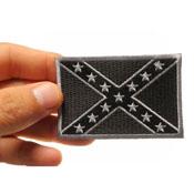 Black Rebel Flag Patch 3x2 Inch