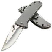 CRKT Drifter Stainless Steel Handle Folding Knife