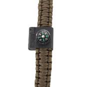 CRKT Stokes Paracord Survival Bracelet w/ Compass and LED