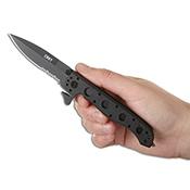 CRKT M16 Black Folding Knife - Half Serrated Edge