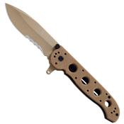 CRKT M21 Tan Folding Knife - Half Serrated Edge