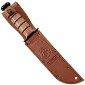Ka-Bar Full-Size Brown Leather Sheath for 7 Inch Blade Knife