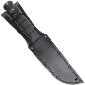 Short Black Kraton G Handle Clip Point Fixed Blade Knife
