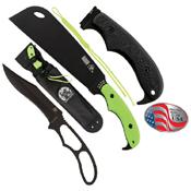 Zombie Zomstro Plain Edge Fixed Blade Knife