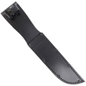 Full-size Black Leather Sheath for 7 Inch Long Blade Knife