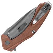 Natrix Copper Stonewash Finish Blade Folding Knife