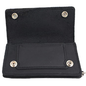 Oil Tanned Leather Chain Wallet