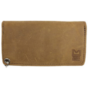 Pull Up Leather Chain Wallet