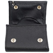 Tri-Fold Soft Leather Chain Wallet