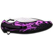 Dark Side Blades Folding Knife - Pink Handle