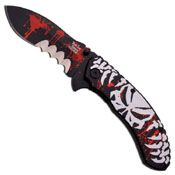Dark Side Blades Red Folding Knife